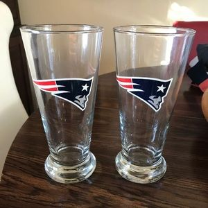 Patriots beer glasses